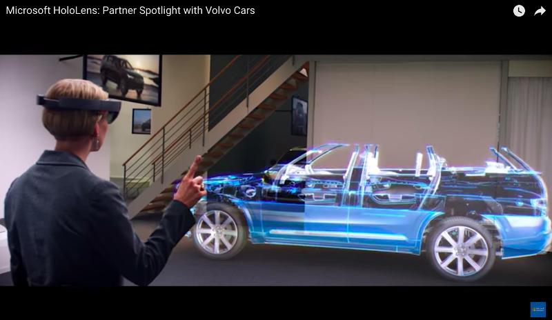 Microsoft HoloLensの紹介動画のキャプチャ