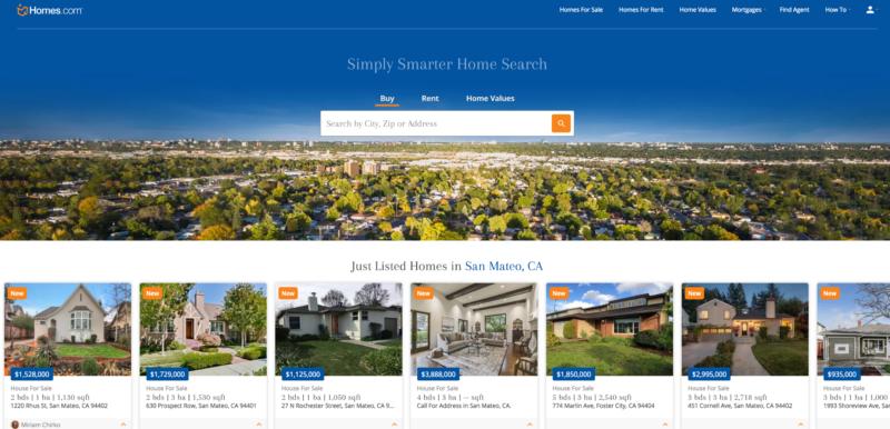 Homes.comのサイトトップページ