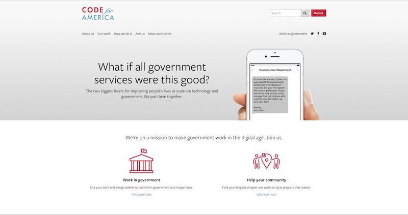 Code for Americaサイトトップページ