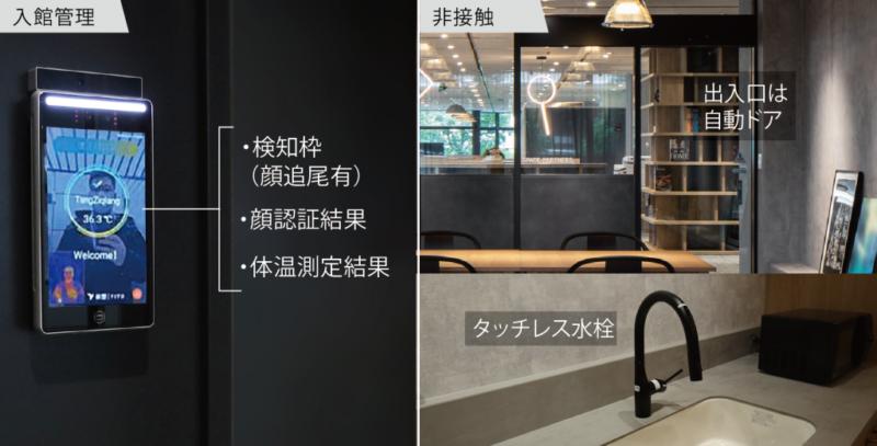 「ライブオフィス用賀」入館管理・非接触